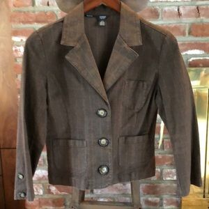 Guess plaid brown blazer jacket